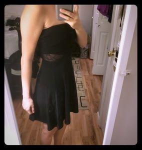 Express side mesh black dress